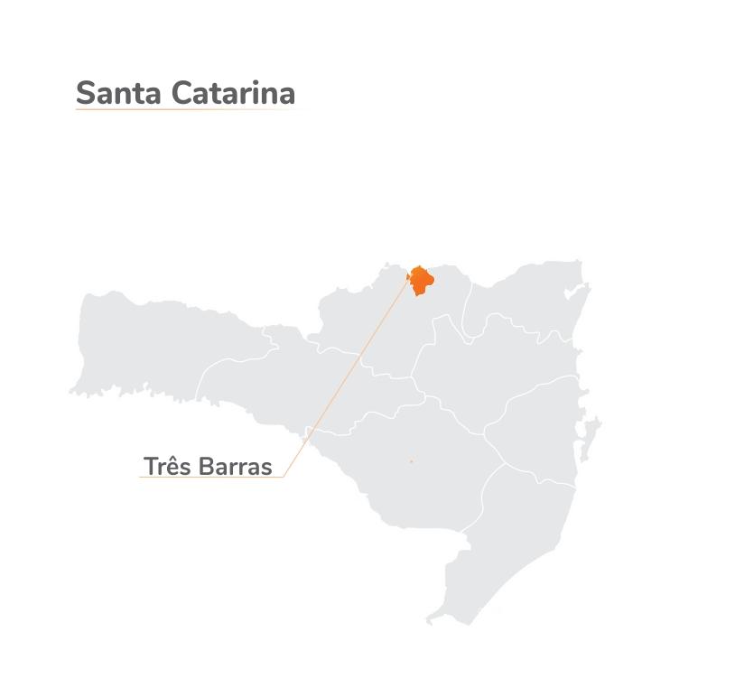 Mapa de atuação Auto Eletro - Três Barras