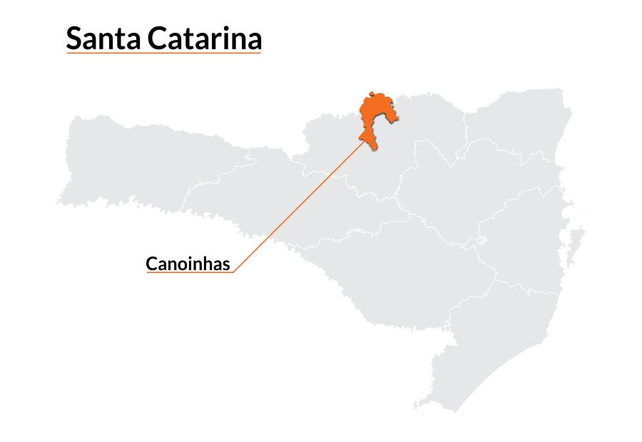 mapa Canoinhas