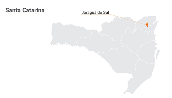 mapa Jaraguá do Sul