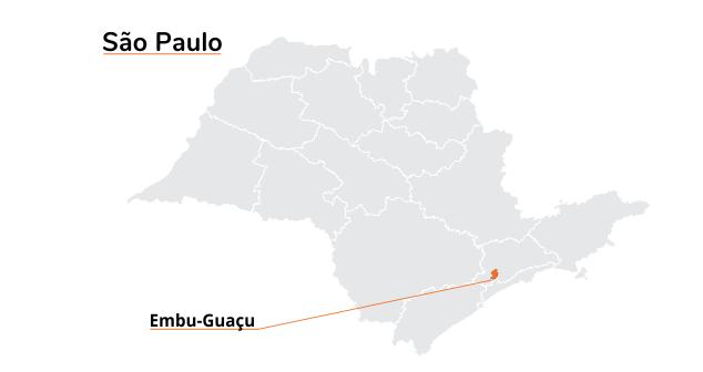 mapa Embu Guaçu SP