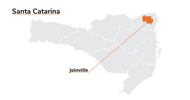 Mapa Santa Catarina