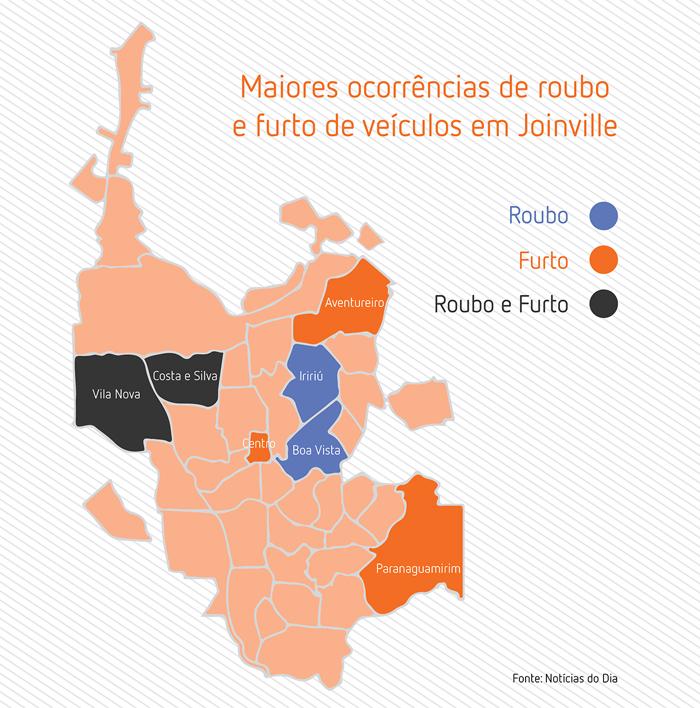 mapa Joinville SC